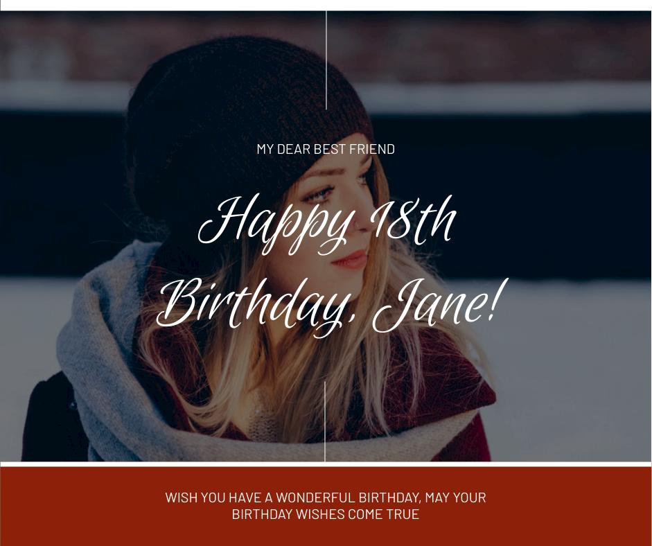 Facebook Post template: Girl Photo Happy Birthday Facebook Post (Created by InfoART's Facebook Post maker)
