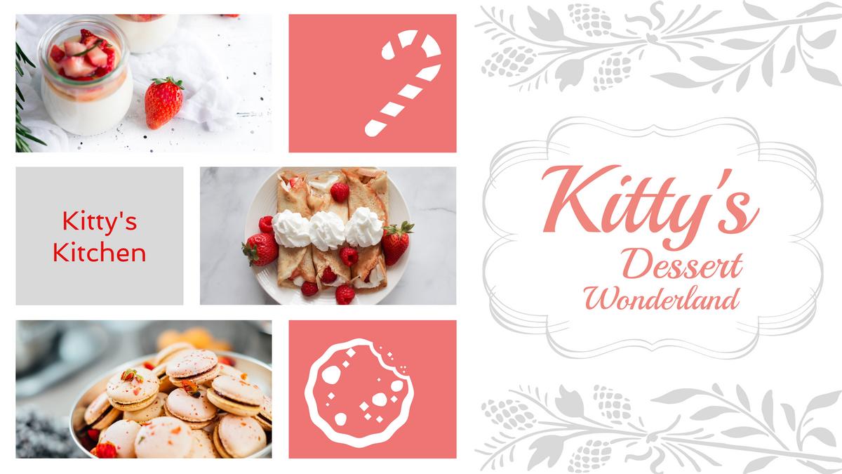 YouTube Channel Art template: Dessert Making YouTube Channel Art (Created by Collage's YouTube Channel Art maker)