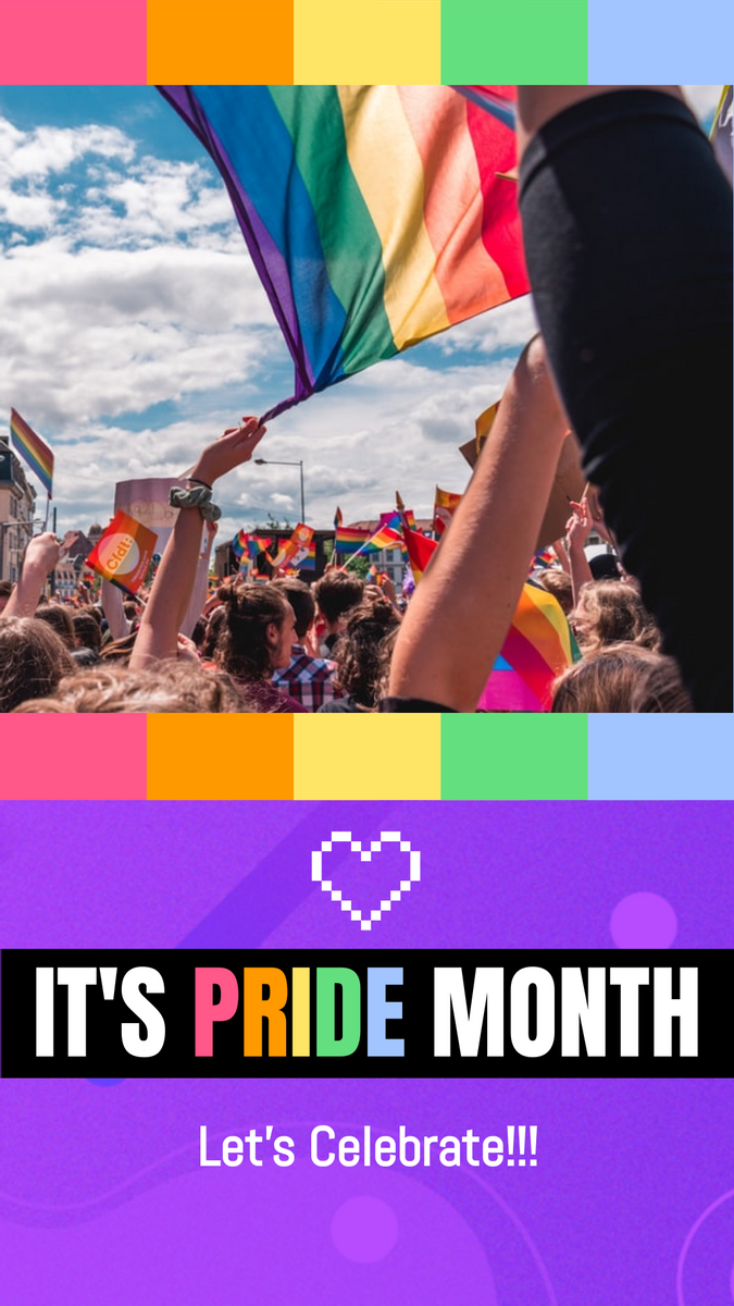 Instagram Story template: Pride Month Celebration Instagram Story (Created by InfoART's Instagram Story maker)