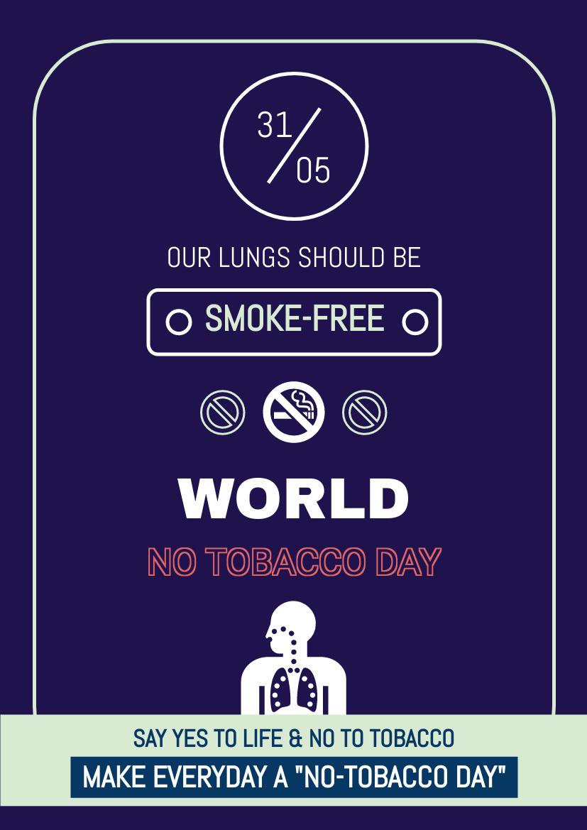 Flyer template: Dark World No Tobacco Day Flyer (Created by InfoART's Flyer maker)