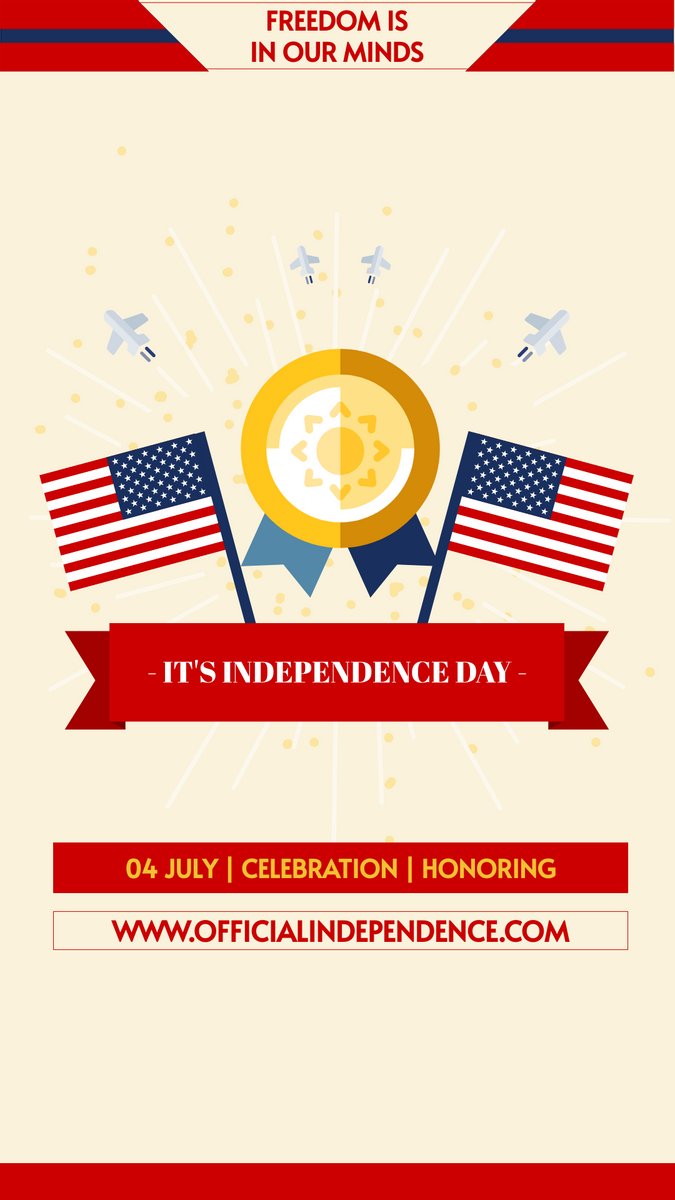 Instagram Story template: Independence Day Info Instagram Story (Created by InfoART's Instagram Story maker)