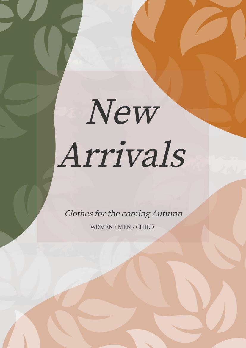 Flyer template: Artistic New Arrival Flyer (Created by InfoART's Flyer maker)