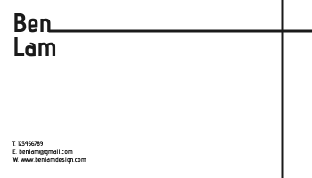 Business Card template: Ben Lam Business Cards (Created by InfoART's Business Card maker)
