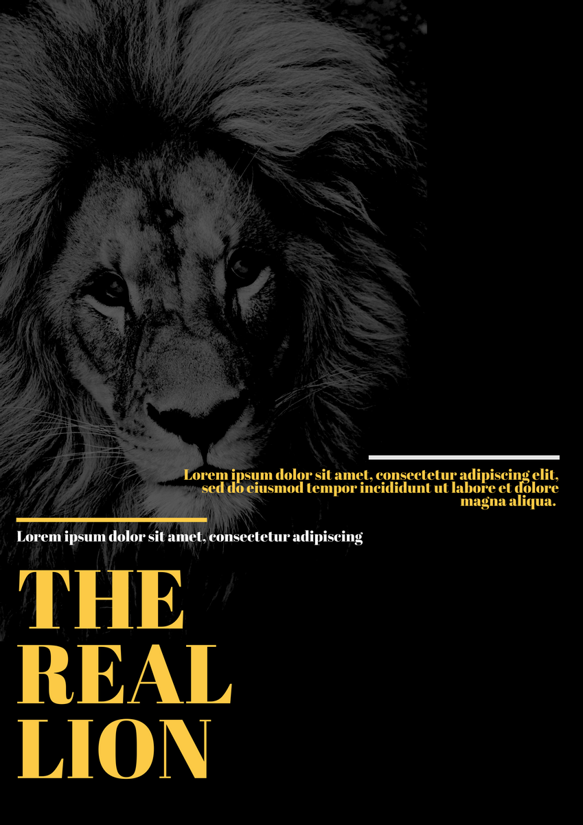 Poster template: The Real Lion Poster (Created by InfoART's Poster marker)