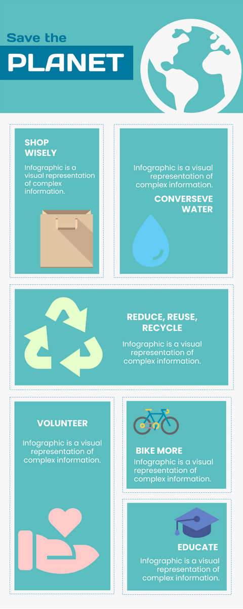 Infographic template: Save the Planet (Created by InfoART's Infographic maker)