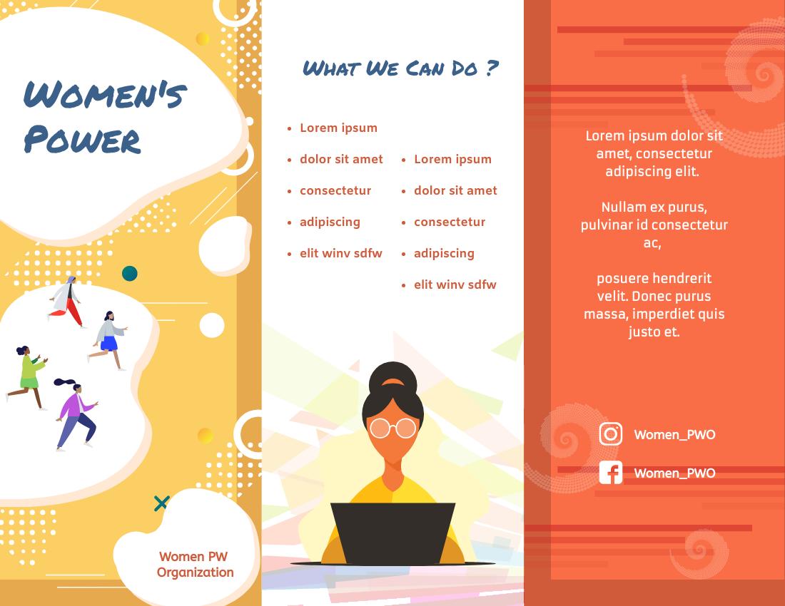 Brochure template: Colourful Brochure (Created by InfoART's Brochure marker)