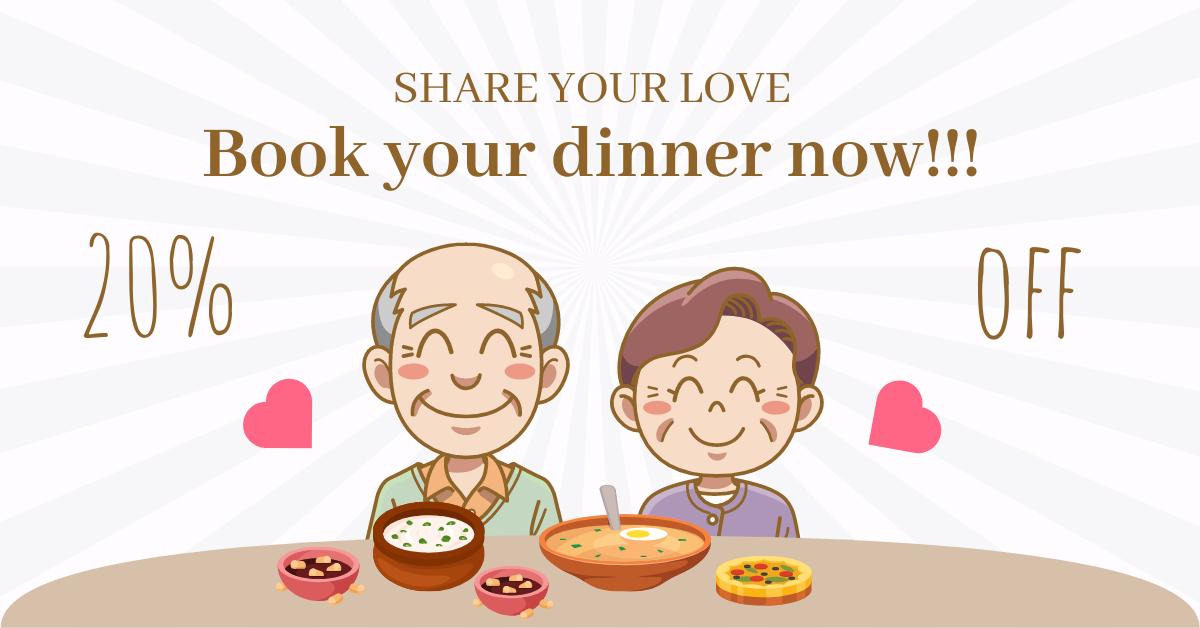 Facebook Ad template: Grandparents Dinner Discount Facebook Ad (Created by InfoART's Facebook Ad maker)