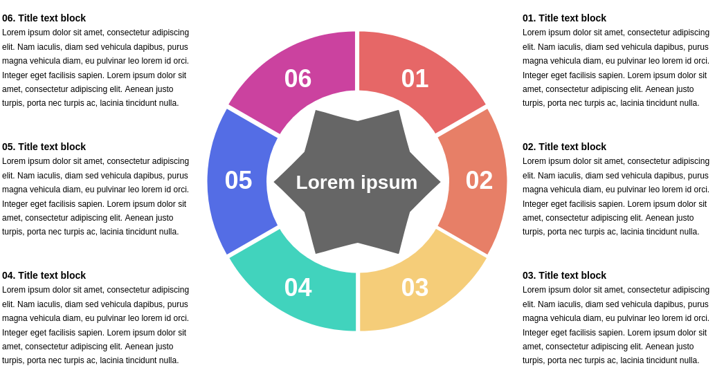 6 Segment Star Diagram Template (Star Diagram Example)