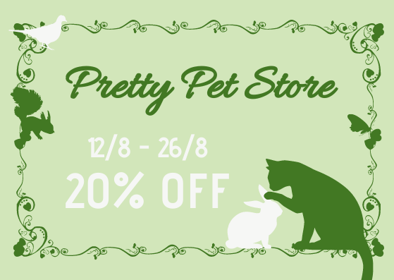 Gift Card template: Pet Store Gift Card (Created by InfoART's Gift Card marker)