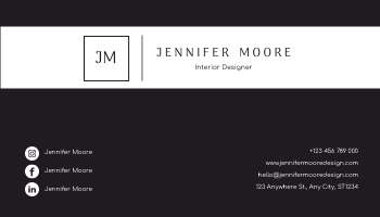 Business Card template: Minimal Black And White Textures Business Card (Created by InfoART's Business Card maker)