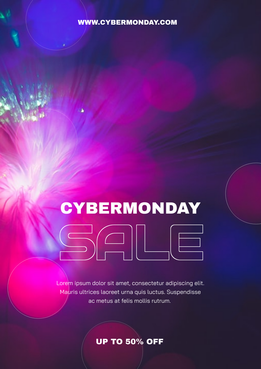 Poster template: Galaxy Gradient Cyber Monday Shopping Poster (Created by InfoART's Poster maker)