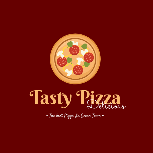 Logo template: Illustrated Logo Generated For Store Selling Pizza (Created by InfoART's Logo maker)