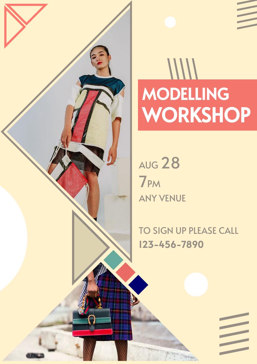 Flyer template: Modelling Workshop Flyer (Created by InfoART's Flyer maker)