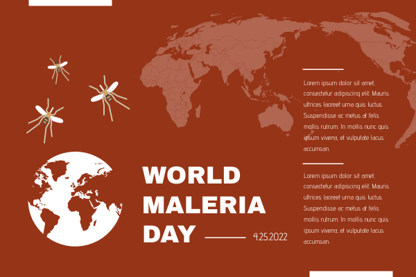 Greeting Card template: Red Earth Cartoon World Malaria Day Greeting Card (Created by InfoART's Greeting Card maker)