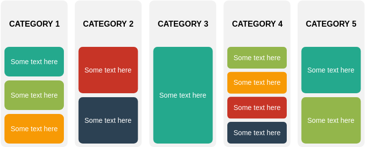 List Block Diagram template: Grouped List (Created by Diagrams's List Block Diagram maker)