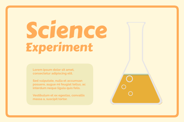 Laboratory template: Science Experiment (Created by InfoChart's Laboratory maker)