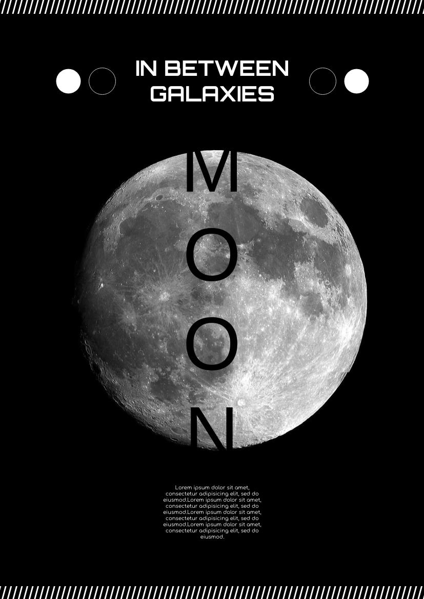 Flyer template: Galaxy Information Flyer About Moon (Created by InfoART's Flyer maker)
