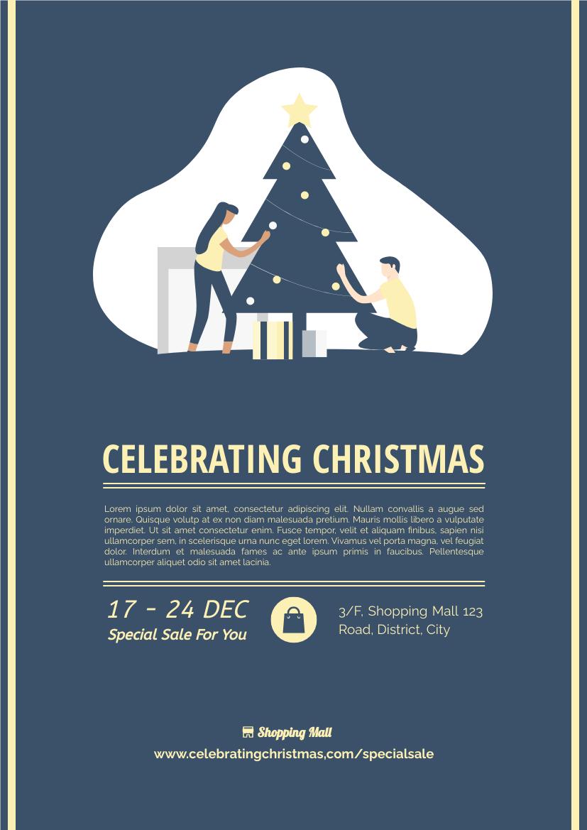 Flyer template: Celebrating Christmas Flyer (Created by InfoART's Flyer maker)
