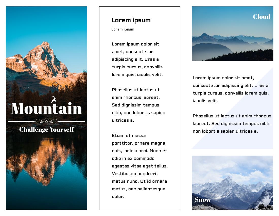 Brochure template: Hiking Brochure (Created by InfoART's Brochure marker)