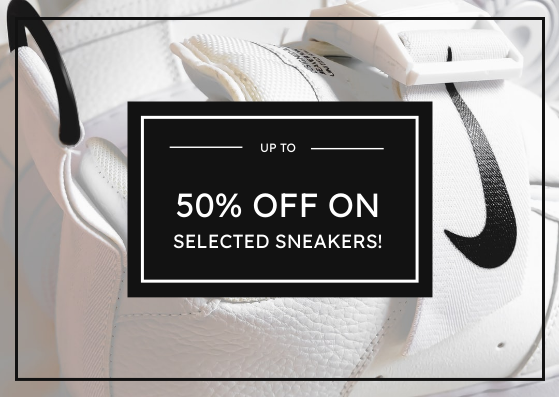 Gift Card template: Black And White Sneakers Photo Gift Card (Created by InfoART's Gift Card maker)