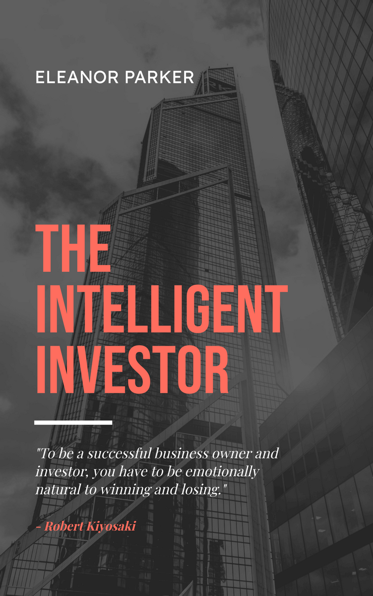 Book Cover template: The Intelligent Investor Finance Book Cover (Created by InfoART's Book Cover maker)
