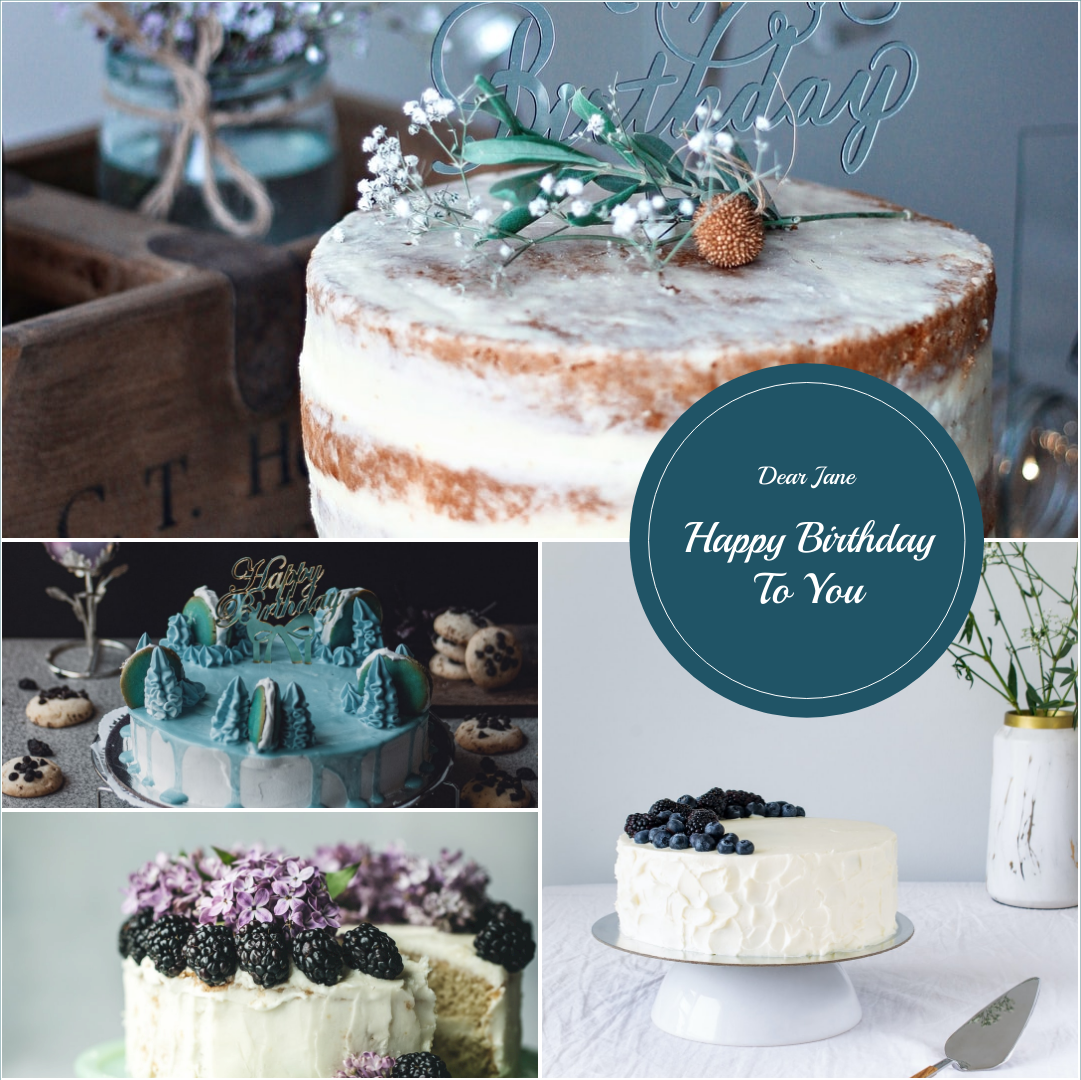 Photo Collage template: Happy Birthday To You Cakes Photo Collage (Created by Collage's Photo Collage maker)
