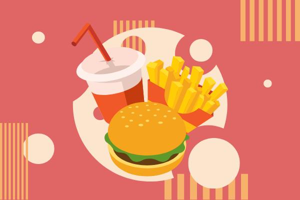 Festival Illustration template: Fast Food (Created by Scenarios's Festival Illustration maker)