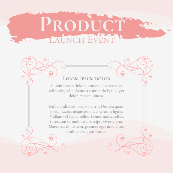 Invitation template: Product Launch Event (Created by InfoART's Invitation marker)