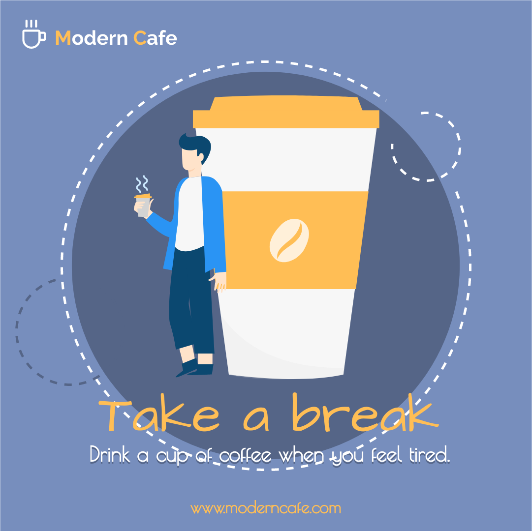 Instagram Post template: Blue And Orange Cafe Promotion Instagram Post (Created by InfoART's Instagram Post maker)