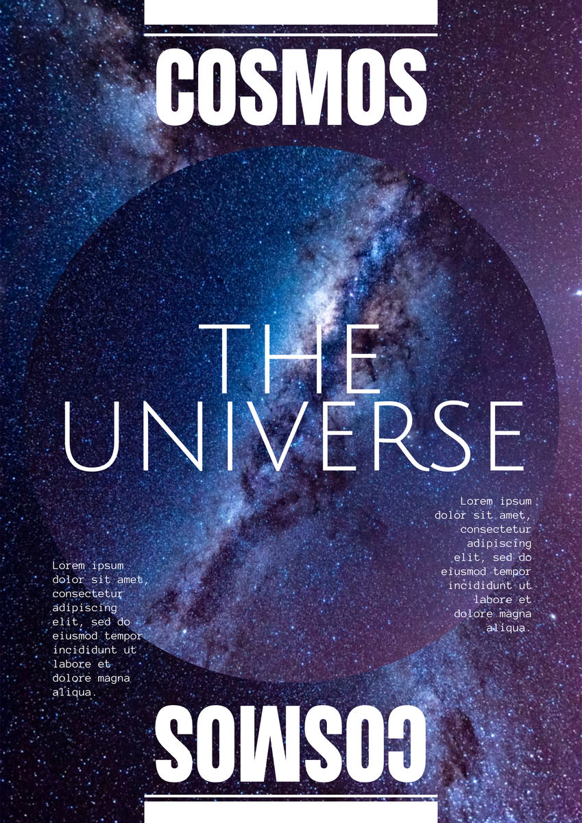 Poster template: Universe Poster (Created by InfoART's Poster maker)
