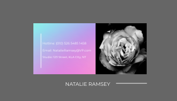 Business Card template: Minimalist Holographic Business Card (Created by InfoART's Business Card maker)
