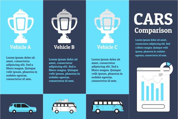 Transport template: Cars Comparison (Created by InfoChart's Transport maker)