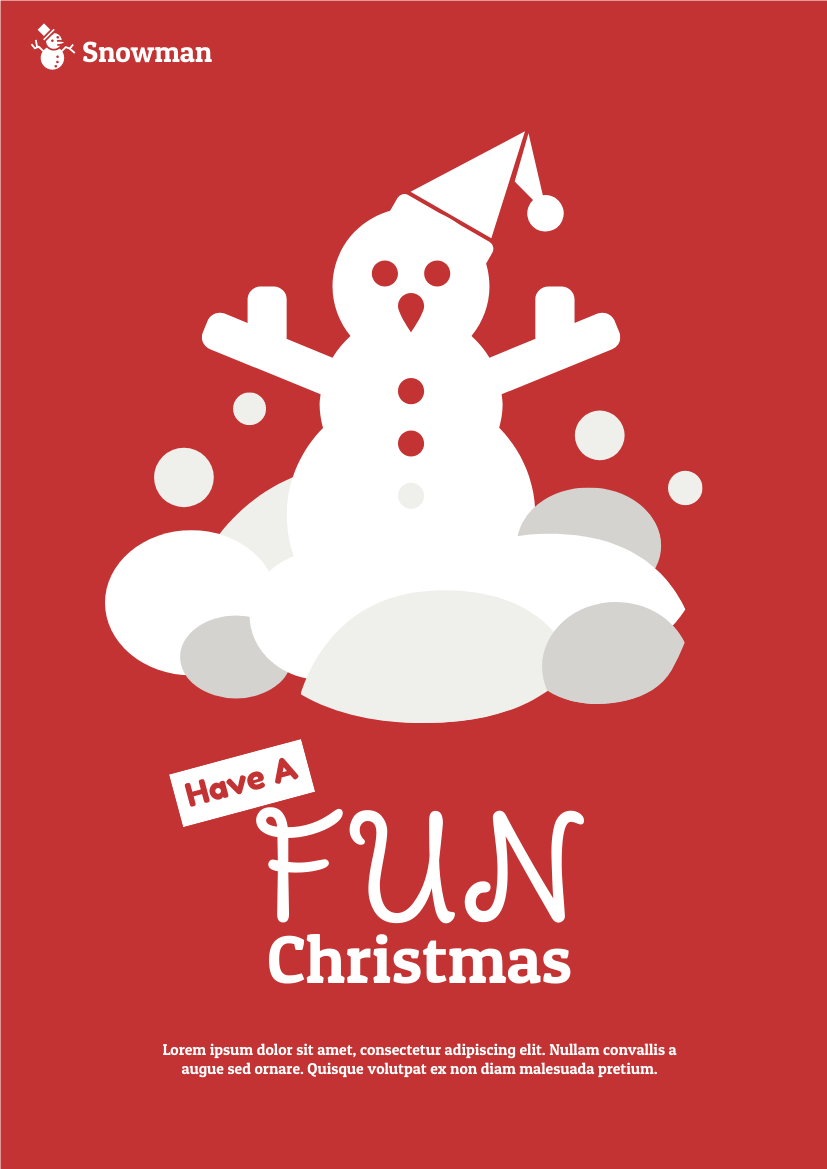 Flyer template: Christmas Snowman Celebration Flyer (Created by InfoART's Flyer maker)