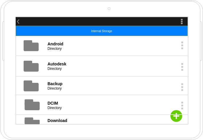 File Manager (Android Wireframe Example)