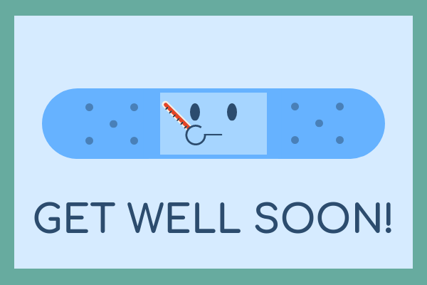 Greeting Card template: Band-Aid Get Well Greeting Card (Created by InfoART's Greeting Card maker)