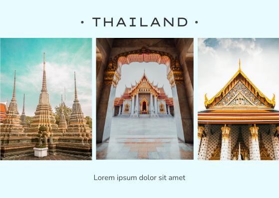 Postcard template: Thailand Postcard (Created by InfoART's Postcard maker)