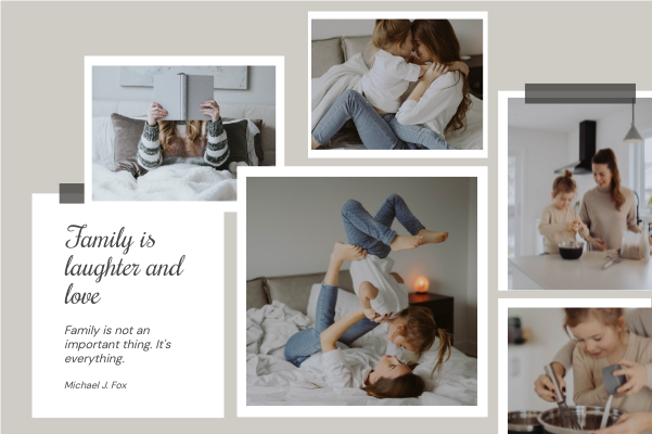 Greeting Card template: Family Is Laughter Greeting Card (Created by Collage's Greeting Card maker)