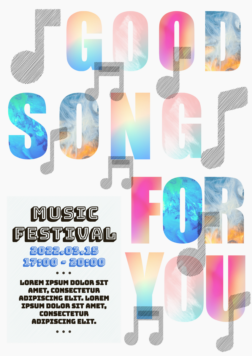 Poster template: Music Festival Event Poster (Created by InfoART's Poster maker)