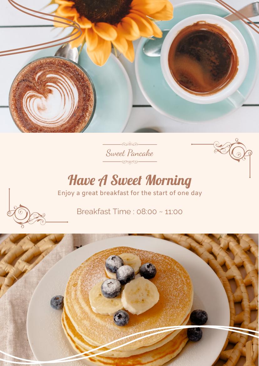 Flyer template: Sweet Breakfast Flyer (Created by InfoART's Flyer maker)