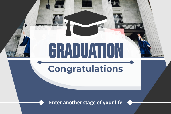 Greeting Card template: Congratulations For Graduation Photography Greeting Card (Created by InfoART's Greeting Card maker)
