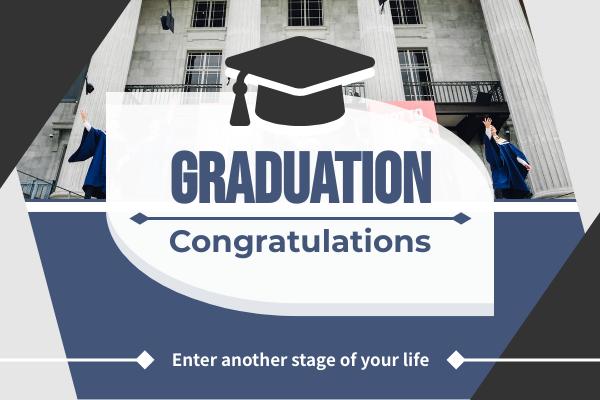 Greeting Card template: Graduation Congratulations Greeting Card (Created by InfoART's Greeting Card maker)