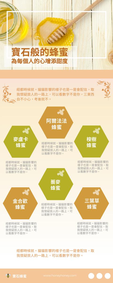 信息圖表 template: 六種常見蜂蜜信息圖表 (Created by InfoART's 信息圖表 maker)