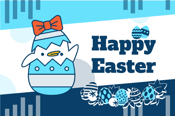 Greeting Card template: Happy Easter Greeting Card 3 (Created by InfoART's Greeting Card maker)
