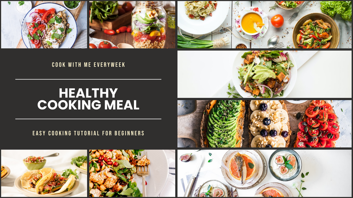 YouTube Thumbnail template: Healthy Cooking Meal YouTube Thumbnail (Created by InfoART's YouTube Thumbnail maker)