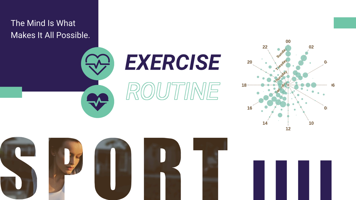 360 Punch Card template: Exercise Routine 360 Punch Card (Created by Chart's 360 Punch Card maker)