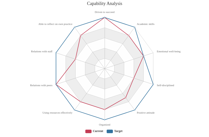 Capability Analysis (Radar Chart Example)