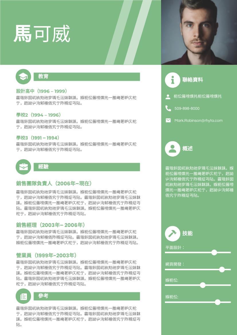 履歷表 template: 參考資料簡歷 (Created by InfoART's 履歷表 maker)