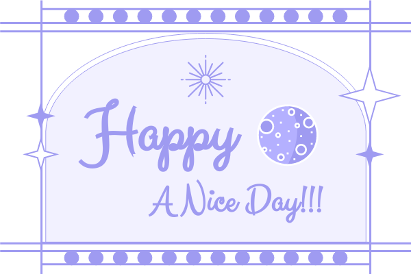 Greeting Card template: Starry Daily Greeting Card (Created by InfoART's Greeting Card maker)