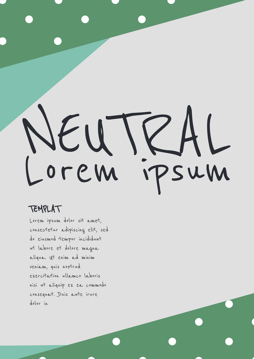 Poster template: Neutral Poster (Created by InfoART's Poster marker)