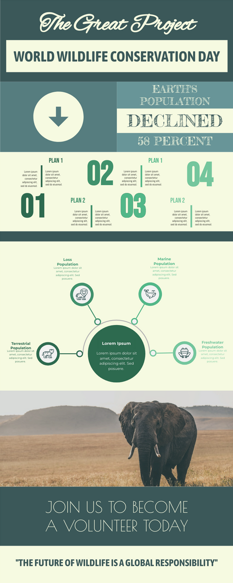 Infographic template: Wildlife Conservation Infographic (Created by InfoART's Infographic maker)